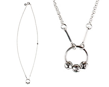 Necklace - Arianne Infinity Circle - Silver