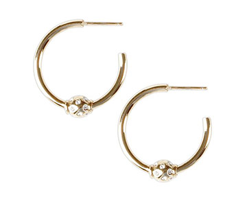 Earings - Mini Briley Hoops - Gold