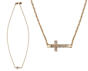 Necklace - Pave Camden Cross Necklace