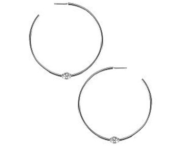 Earings - Briley Hoops Silver